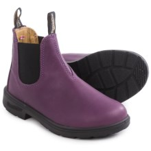 Blundstone Blunnies Dual Color Leather Boots - Factory 2nds (For Little and Big Kids) in Purple/Black - 2nds
