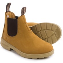 Blundstone Blunnies Dual Color Leather Boots - Factory 2nds (For Little and Big Kids) in Wheat/Brown - 2nds