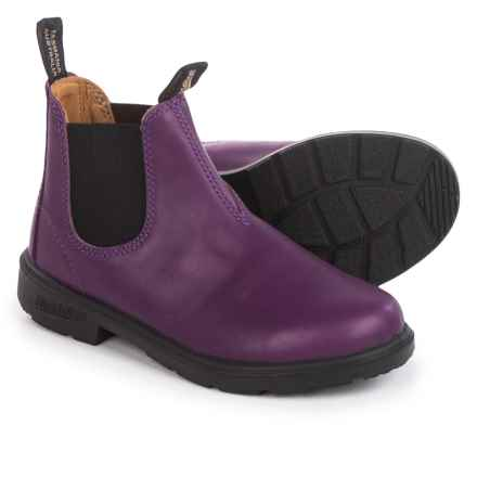 Blundstone Blunnies Leather Boots - Factory 2nds (For Little Kids) in Purple/Black - 2nds