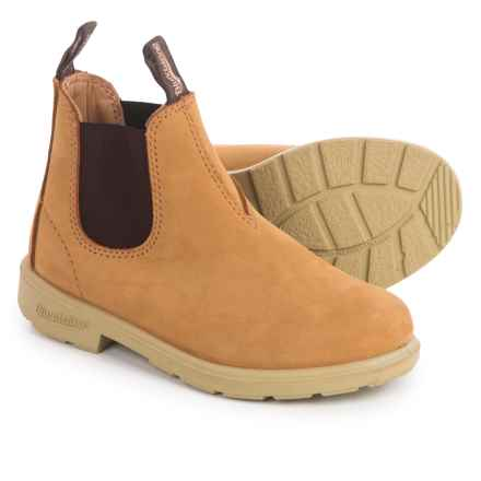Blundstone Blunnies Leather Boots - Factory 2nds (For Little Kids) in Wheat Nubuck - 2nds