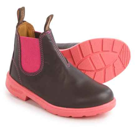 Blundstone Blunnies Leather Pull-On Boots - Factory 2nds (For Kids) in Brown/Pink - 2nds