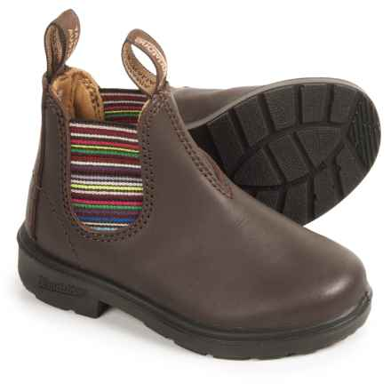 Blundstone Blunnies Leather Pull-On Boots - Factory 2nds (For Kids) in Brown - 2nds