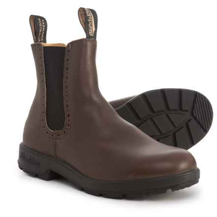 Blundstone Brogue Chelsea Boots - Leather, Factory 2nds (For Women) in Brown - Closeouts