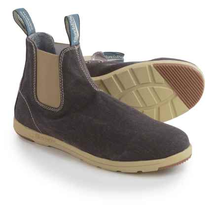 Blundstone Canvas Chelsea Boots - Factory 2nds (For Men and Women) in Brown - Closeouts