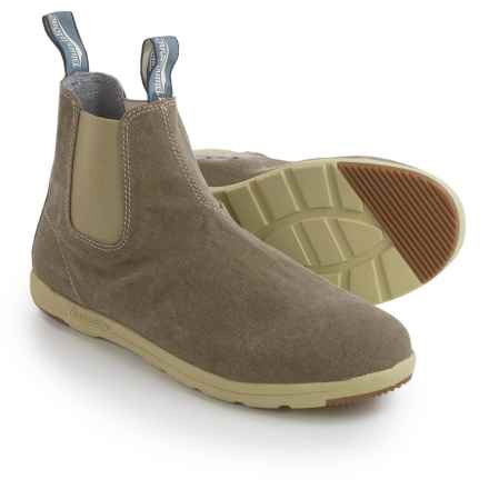 Blundstone Canvas Chelsea Boots - Factory 2nds (For Men and Women) in Khaki - Closeouts