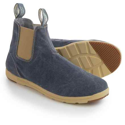 Blundstone Canvas Chelsea Boots - Factory 2nds (For Men and Women) in Navy - Closeouts