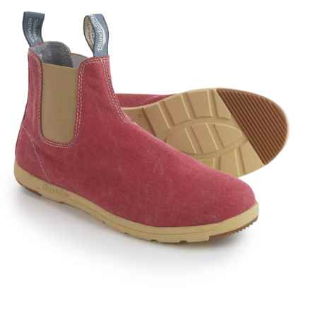 Blundstone Canvas Chelsea Boots - Factory 2nds (For Men and Women) in Red - Closeouts