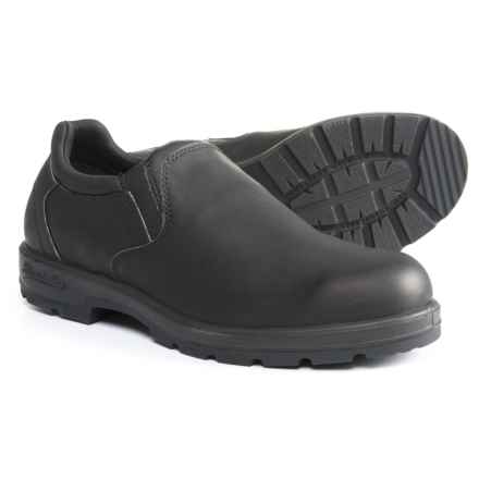 Blundstone Casual Slip-On Leather Shoes - Factory 2nds (For Men) in Black Voltan - Closeouts