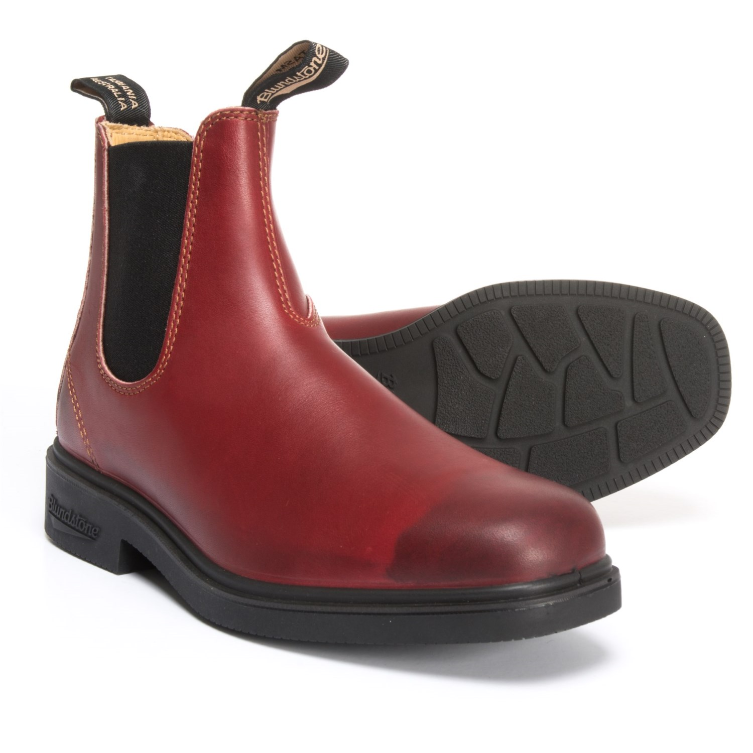 Blundstone Chelsea Dress Boots - Leather, Factory 2nds (For Men) in Burgandy