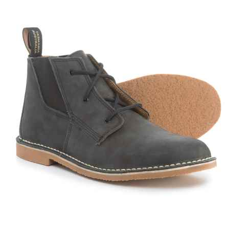 Blundstone Leather Chukka Boots - Factory 2nds (For Men) in Rustic Black - Closeouts