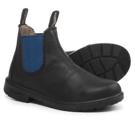 Blundstone Pull-On Boots - Factory 2nds (For Little Kids) in Black/Blue - 2nds