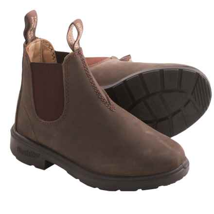 Blundstone Pull-On Boots - Factory 2nds (For Little Kids) in Rustic Brown - 2nds