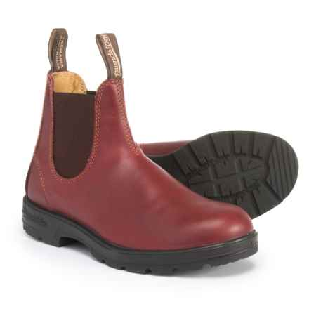 Blundstone Super 550 Chelsea Boots - Leather, Factory 2nds (For Men) in Burgandy Leather - Closeouts