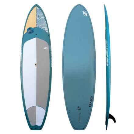 "Boardworks EPXV Kraken Stand-Up Paddle Board - 11'x2'8"" in Wood/Steel Blue/Steel Blue - Overstock"