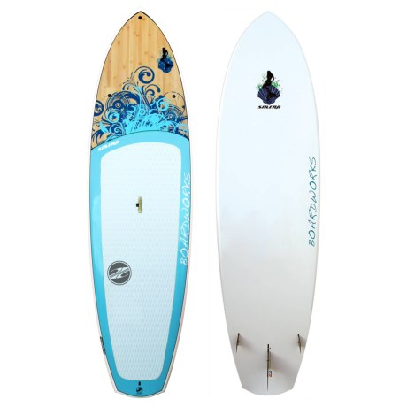 """Boardworks EPXV Sirena Stand-Up Paddle Board - 10'4"""" in Blue/Wood/Sky Blue"""