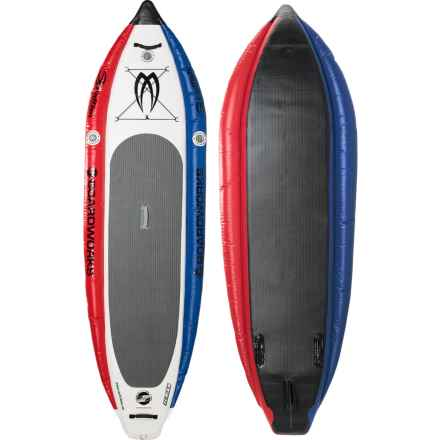 "Boardworks MCIT Inflatable Stand-Up Paddle Board - 10'6"" in Red/White/Blue - Closeouts"