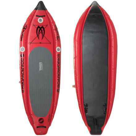 Boardworks MCIT Inflatable Stand-Up Paddle Board - 9' in Red/Black - Closeouts