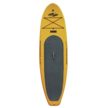 "Boardworks SHUBU Inflatable Stand-Up Paddle Board - 10'2"", Wide in Yellow/Black/Green - 2nds"