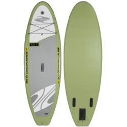 "Boardworks SHUBU Inflatable Stand-Up Paddle Board - 9'2"", Wide in Yellow/Grey"