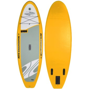 "Boardworks SHUBU Inflatable Stand-Up Paddle Board - 9'2"", Wide in Yellow/Grey/Orange"