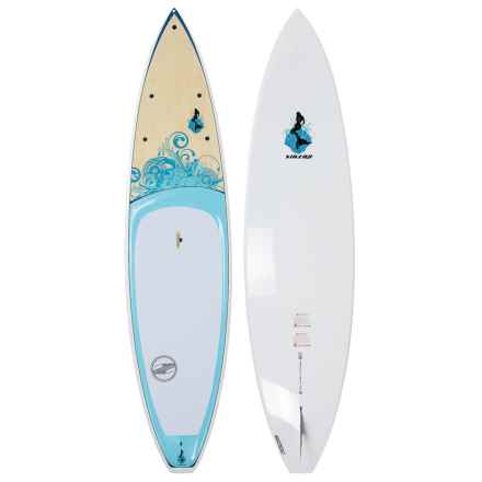 "Boardworks Sirena Touring Stand-Up Paddle Board - 10'6"" in Blue/Wood/Sky Blue - Closeouts"
