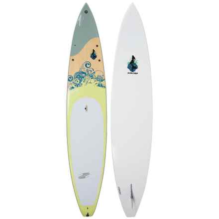 "Boardworks Sirena Touring Stand-Up Paddle Board - 12'6"" in Sirena Grey/Wood/Yellow - Closeouts"