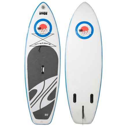 "Boardworks The Mod Inflatable Stand-Up Paddle Board - 9'6"" in White/Blue/White - Closeouts"