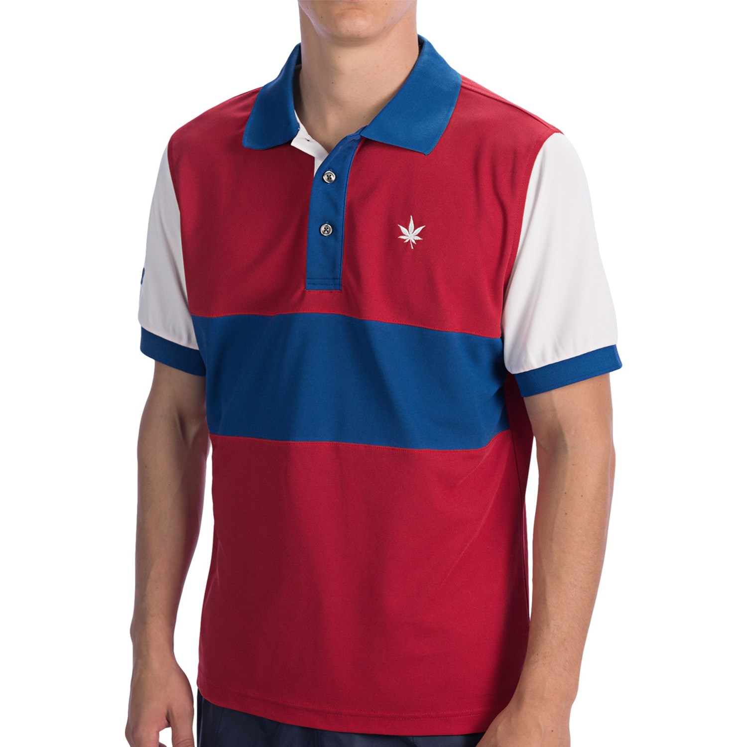 Boast usa color block court polo shirt short sleeve for for Polo color block shirt