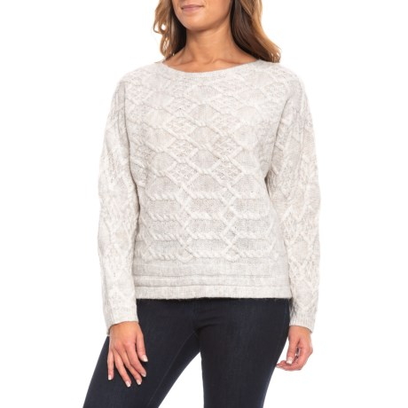 Image of Boat Neck Pullover Sweater (For Women)