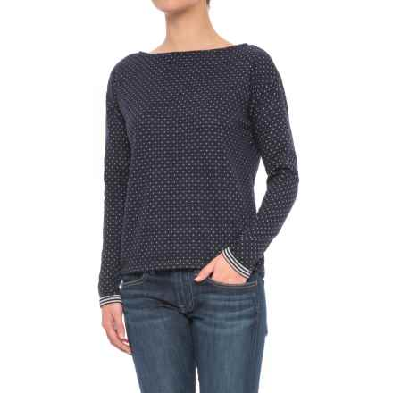 Boat Neck Shirt - Long Sleeve (For Women) in Navy - 2nds