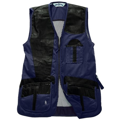Bob Allen Shooting Vest - Leather and Mesh, Right Hand (For Men) in Green