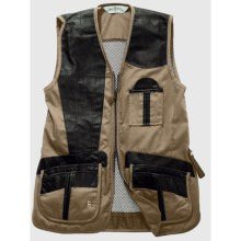 Bob Allen Shooting Vest - Leather and Mesh, Right Hand (For Men) in Khaki - Closeouts
