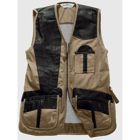 Bob Allen Shooting Vest - Leather and Mesh, Right Hand (For Men) in Navy