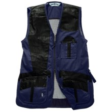 Bob Allen Shooting Vest - Leather and Mesh, Right Hand (For Men) in Navy - Closeouts