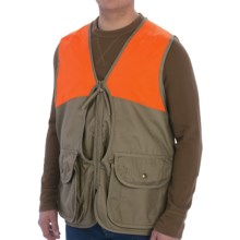 Bob Allen Upland Hunting Vest (For Men) in Tan/Blaze Orange - Closeouts