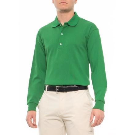 883a8899996a Bobby Jones Pima Interlock Polo Shirt - Long Sleeve (For Men) in Grass -