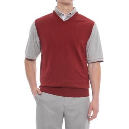 b49c60e16 Bobby Jones Players Golf Vest - Pima Cotton (For Men) in Cranberry -  Closeouts