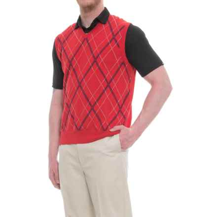 Bobby Jones Raker Golf Vest (For Men) in Flag Red - Closeouts