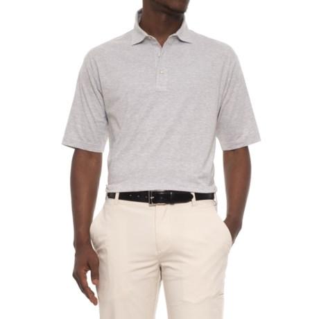 Bobby Jones Riverside Heather Stripe Polo Shirt - Short Sleeve (For Men) in Light Grey/White