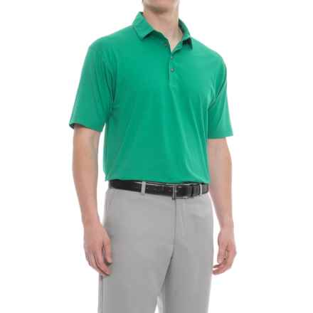 Bobby Jones Solid Liquid Cotton Golf Polo Shirt - Short Sleeve (For Men) in Lagoon - Closeouts