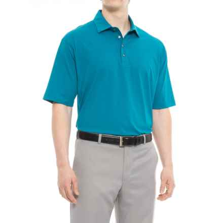 Bobby Jones Solid Liquid Cotton Golf Polo Shirt - Short Sleeve (For Men) in Santorini - Closeouts