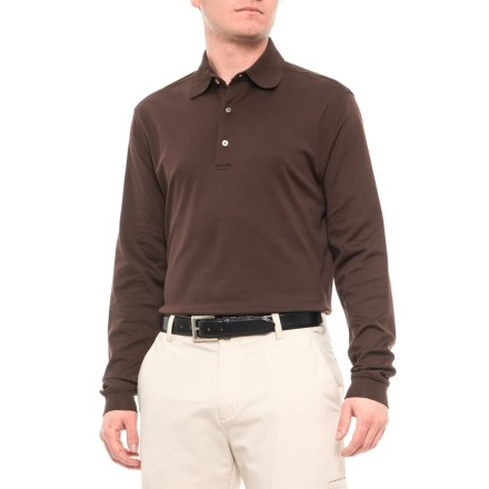 a6494755d9d Bobby Jones Solid Supreme Cotton Polo Shirt - Long Sleeve (For Men) in Dark