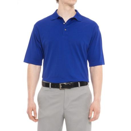 Bobby Jones Solid Supreme Golf Polo Shirt - Short Sleeve (For Men) in Marina Blue