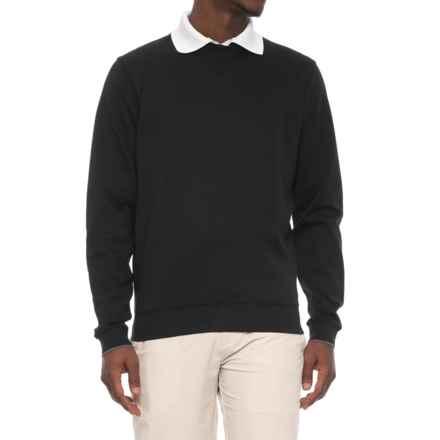 Bobby Jones Walker V-Notch Pullover Shirt - Long Sleeve (For Men) in Black - Closeouts
