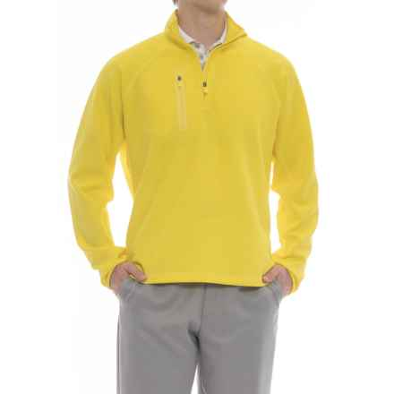 Bobby Jones XH20 Crawford Pullover Shirt - UPF 15, Zip Neck, Long Sleeve (For Men) in Mimosa - Closeouts