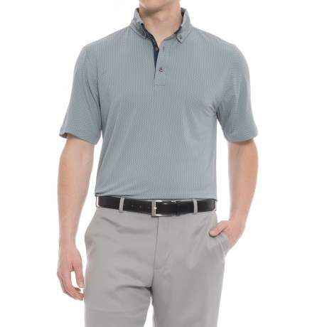 Bobby Jones XH20 Essex Jacquard Golf Polo Shirt - Short Sleeve (For Men) in Graphite