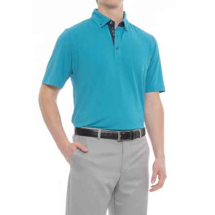 Bobby Jones XH20 Essex Jacquard Golf Polo Shirt - Short Sleeve (For Men) in Santorini - Closeouts