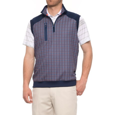 Bobby Jones XH20 Golf Vest - UPF 15, Zip Neck (For Men) in Summer Navy