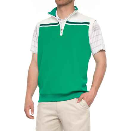 Bobby Jones XH20 Tech Stripe Golf Vest - UPF 15 (For Men) in Lagoon - Closeouts