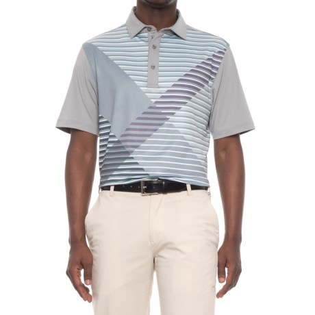 Bobby Jones XH20 Tribeca Printed Plaid Golf Polo Shirt - Short Sleeve (For Men) in Graphite
